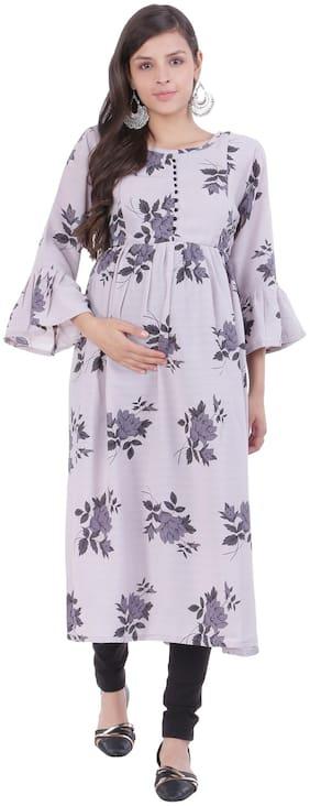 Momtobe Women Maternity Kurta - Grey L