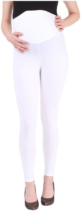 Momtobe Women Maternity Legging - White M