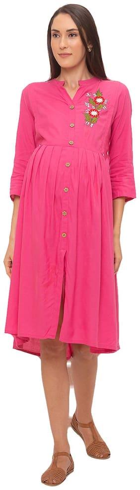 Momtobe Women Maternity Dress - Pink M
