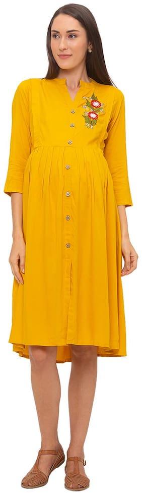 Momtobe Women Maternity Dress - Yellow Xxl