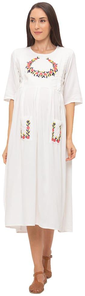 Momtobe Women Maternity Dress - White Xxl