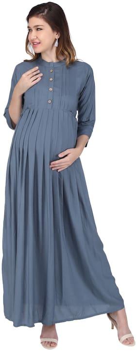 Momtobe Women Maternity Dress - Grey Xl