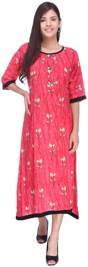 Momtobe Women Maternity Dress - Pink L