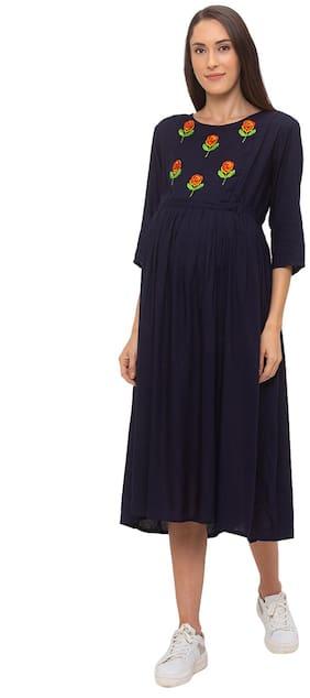 Momtobe Women Maternity Dress - Navy Xxl