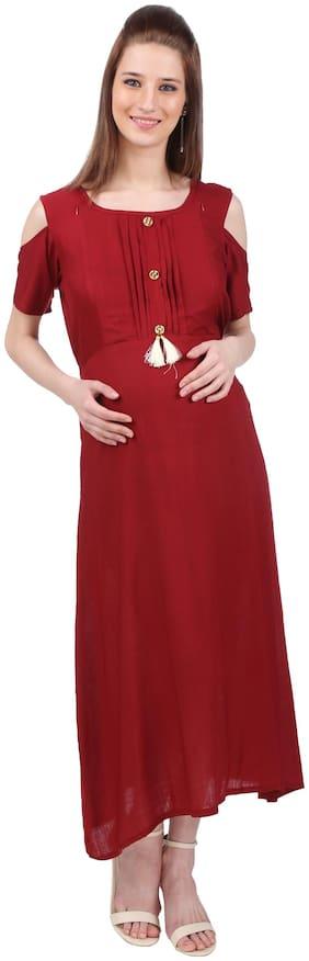 Momtobe Women Maternity Dress - Red Xl