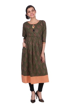 Momtobe Women Maternity Kurta - Green L