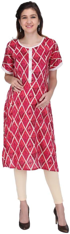 Momtobe Women Maternity Kurta - Pink Xl
