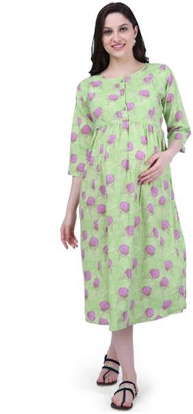 Momtobe Women Maternity Dress - Green Xxl