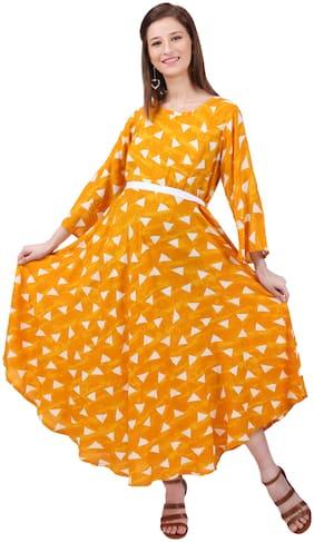 Momtobe Women Maternity Dress - Yellow M