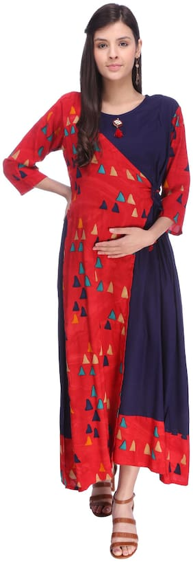 Momtobe Women Maternity Dress - Multicolor Xxl