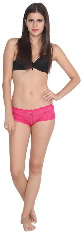 Monmoine Pack Of 1 Lace Low waist Bikini - Pink
