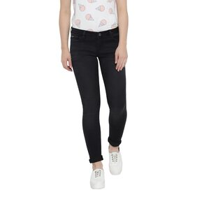 Monte Carlo Women Regular Fit Mid Rise Solid Jeans - Black