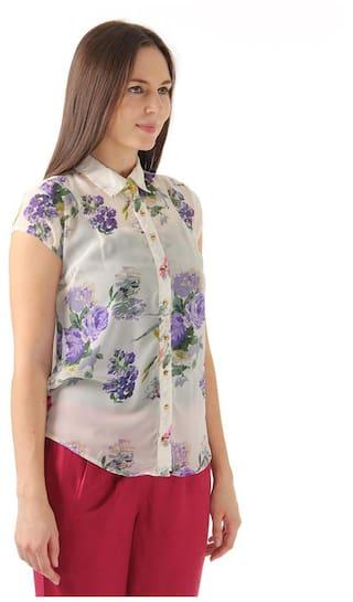 Carlo Floral Shirts Georgette Print Monte Women's URxCq7