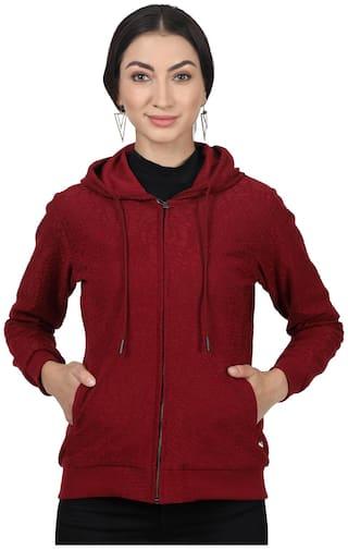 Monte Carlo Women Printed Sweatshirt - Maroon
