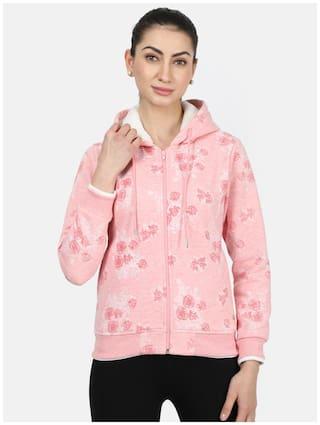 Monte Carlo Women Floral Hoodie - Pink