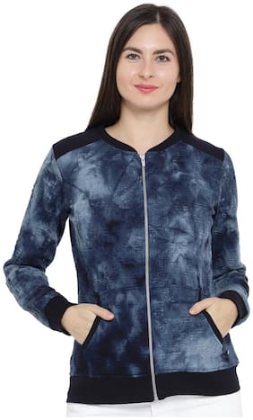 Monte Carlo Women Printed Sweatshirt - Blue