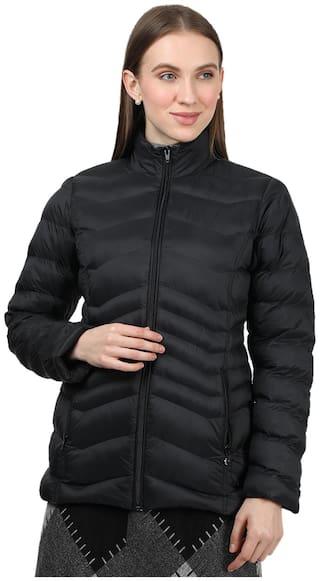 Monte Carlo Women Solid Bomber Jacket - Black