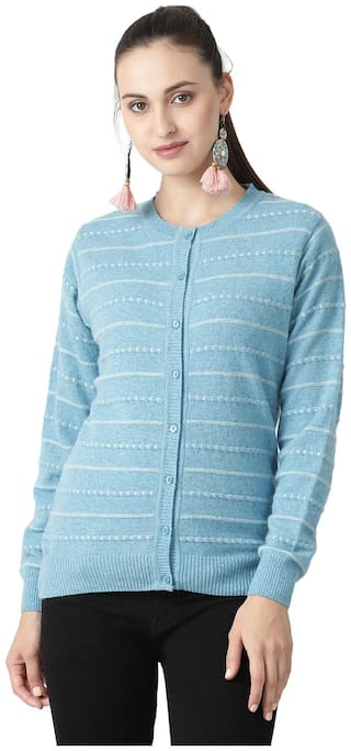 Monte Carlo Women Printed Sweaters & Pullovers - Blue