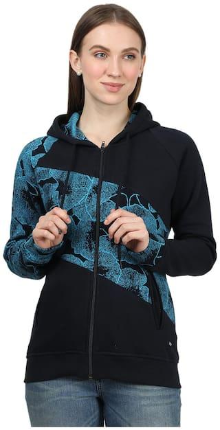 Monte Carlo Women Printed Sweatshirt - Black