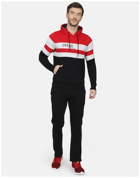 Regular Fit Cotton Blend Track Suit Pack Of 2