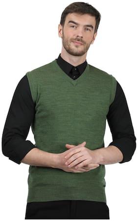 Men Wool Blend Sleeveless Sweater Pack Of 1