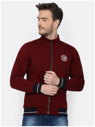 Monte Carlo Men Maroon High neck Sweatshirt