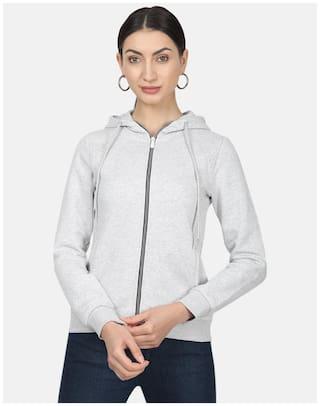 Monte Carlo Women Solid Sweatshirt - Grey