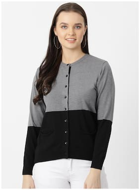 Women Color Blocked Sweater