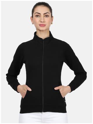Monte Carlo Women Solid Sweatshirt - Black