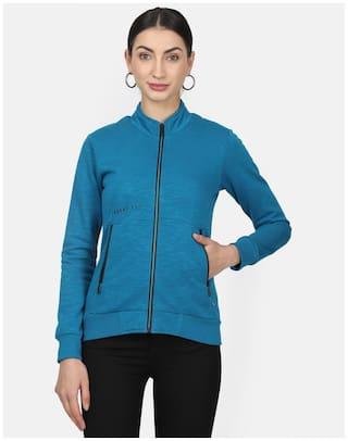 Monte Carlo Women Solid Sweatshirt - Blue