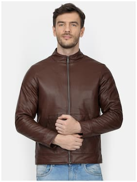 Men Polyester Long Sleeves Down Jacket