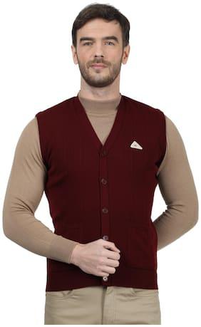 Men Wool Sleeveless Sweater Pack Of 1