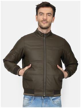 Men Polyester Long Sleeves Down Jacket