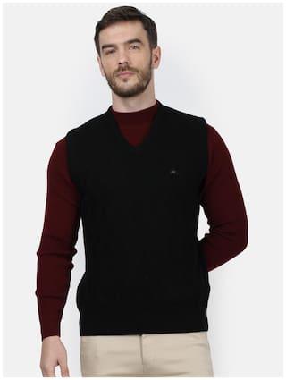 Monte Carlo Men Black V neck Pullover