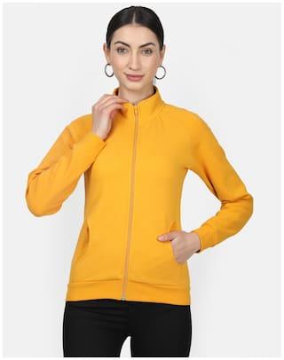 Monte Carlo Women Solid Sweatshirt - Yellow