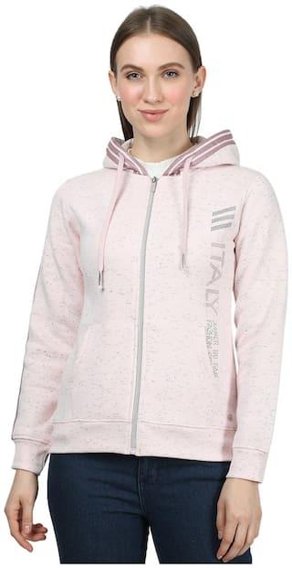 Monte Carlo Women Solid Sweatshirt - Pink