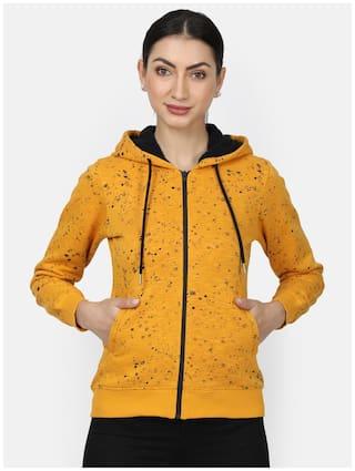 Monte Carlo Women Printed Sweatshirt - Yellow