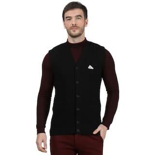 Monte Carlo Men Black V neck Cardigan