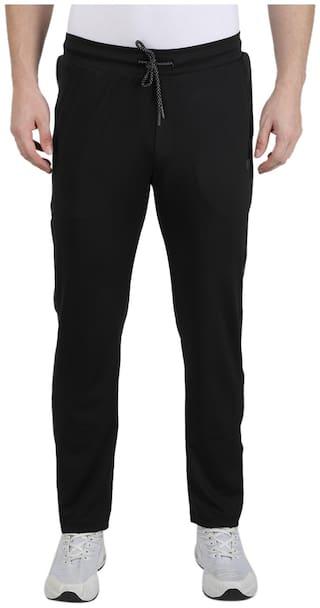 Monte Carlo Men Black Solid Regular fit Track pants