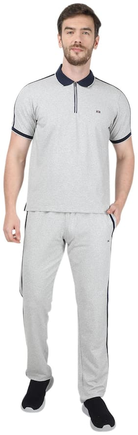 Regular Fit Cotton Track Suit Pack Of 2