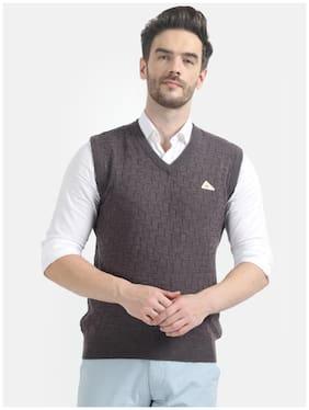 Men Wool Blend Sleeveless Sweater