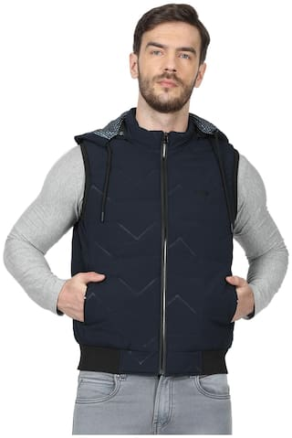 Monte Carlo Men Navy blue Geometric Bomber jacket