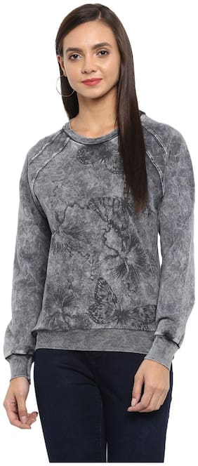Monte Carlo Women Printed Sweatshirt - Grey
