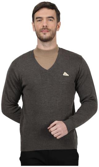 Monte Carlo Men Grey V neck Pullover