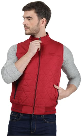 Monte Carlo Men Red Solid Bomber jacket