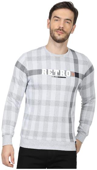Monte Carlo Men Grey & Black Round neck Sweatshirt
