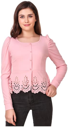 MORLAIX Women Solid Regular top - Pink