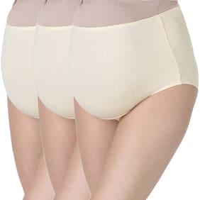 Morph Maternity Women Cotton Beige Beige Maternity  Panties