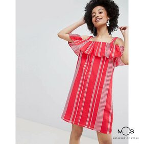 Ministry of Style Striped Dress - Red