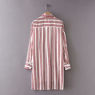 Multi MOS Women Exclusive Shirt Stripe Formal XwqvOxTw